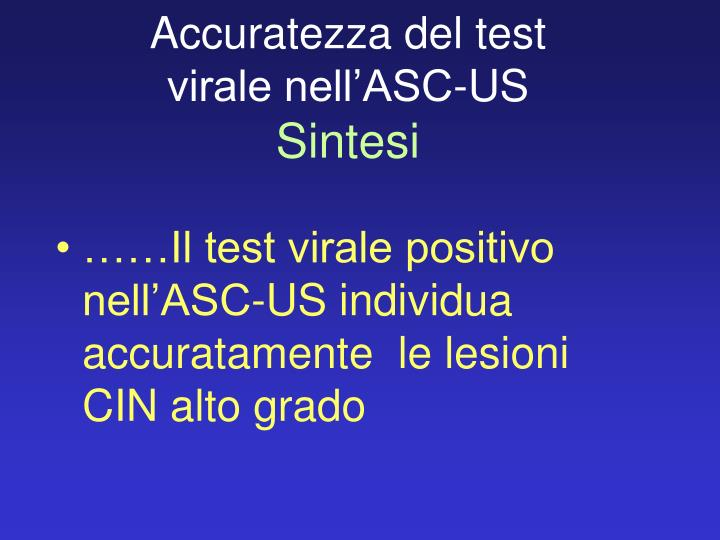 Accuratezza del test