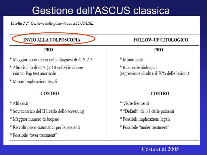 Gestione dell'ASCUS classica