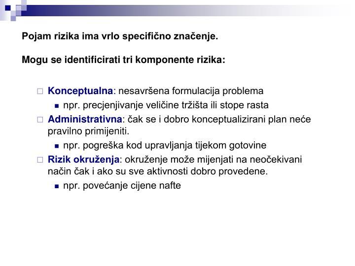 Pojam rizika ima vrlo specifično značenje.