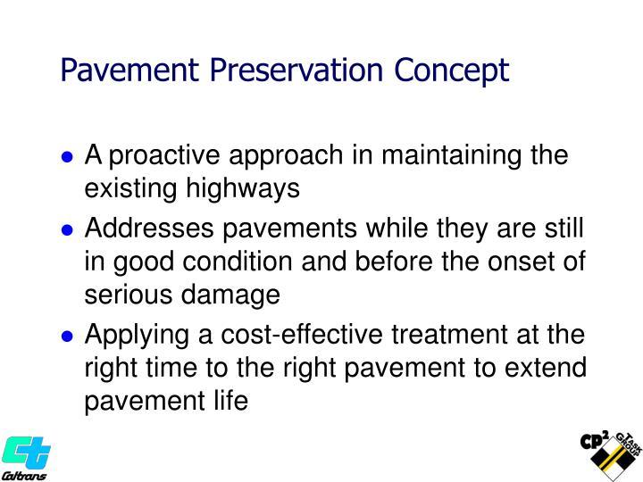 Pavement Preservation Concept