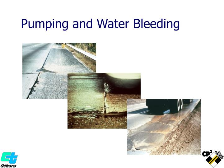 Pumping and Water Bleeding