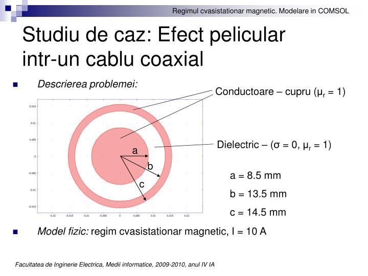 Studiu de caz: Efect pelicular