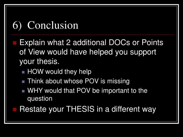 6)  Conclusion