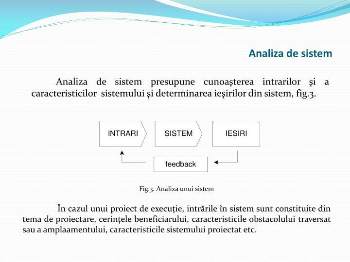 Analiza de sistem