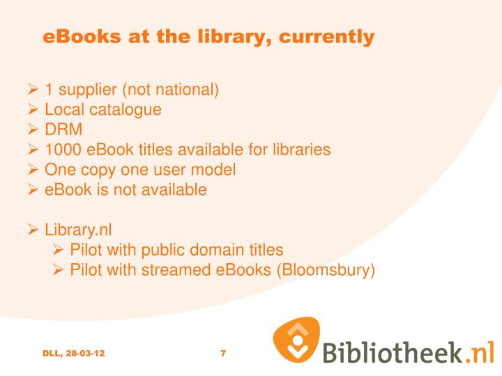 eBooks at the library, currently