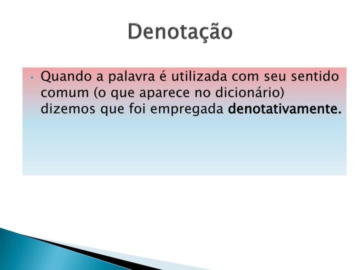 Denotação