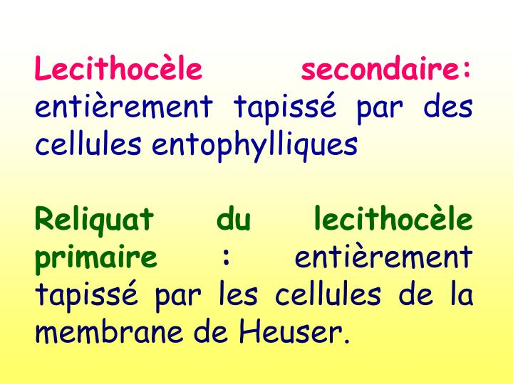 Lecithocèle secondaire: