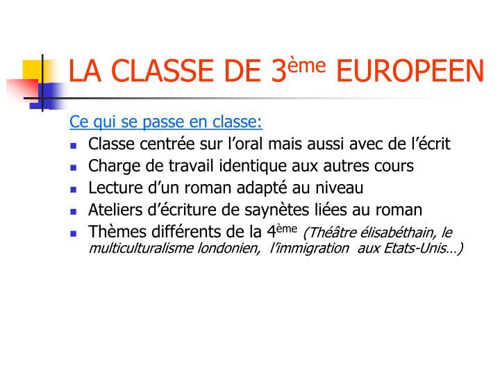 LA CLASSE DE 3