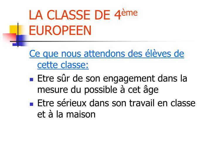 LA CLASSE DE 4