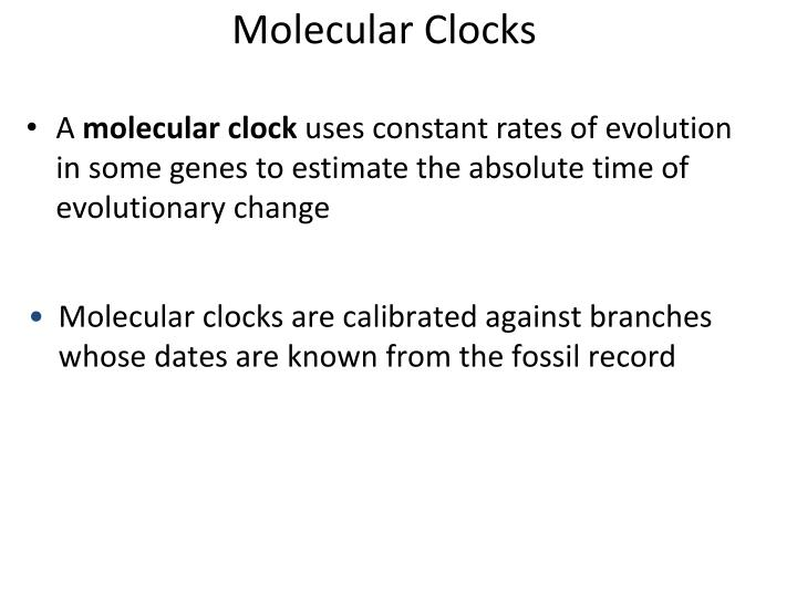 Molecular Clocks