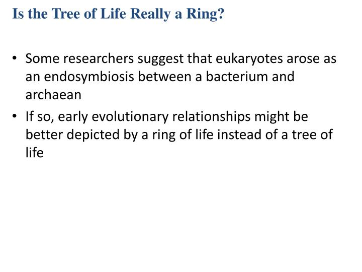 Is the Tree of Life Really a Ring?