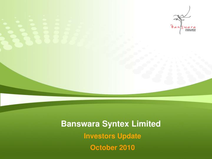 Banswara Syntex Limited