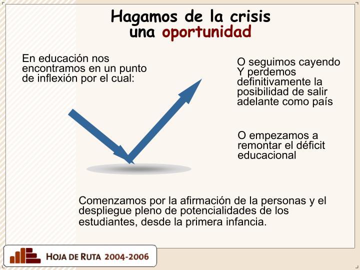 Hagamos de la crisis