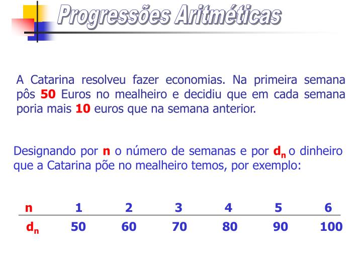 Progress es aritm ticas