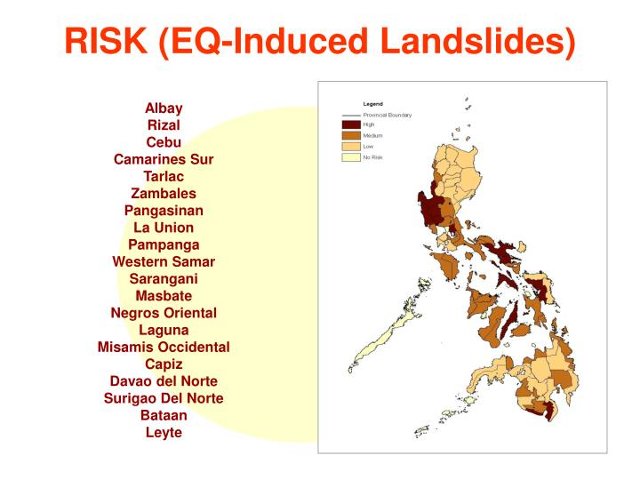 RISK (EQ-Induced Landslides)