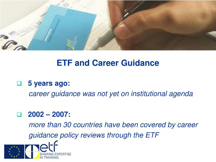 ETF and Career Guidance