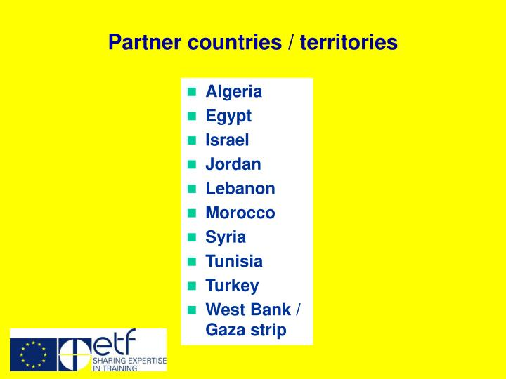 Partner countries / territories