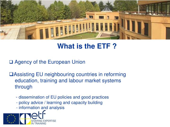 What is the ETF ?
