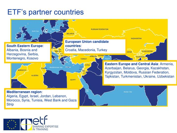 ETF's partner countries
