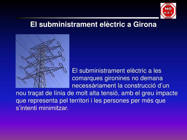 El subministrament elèctric a Girona