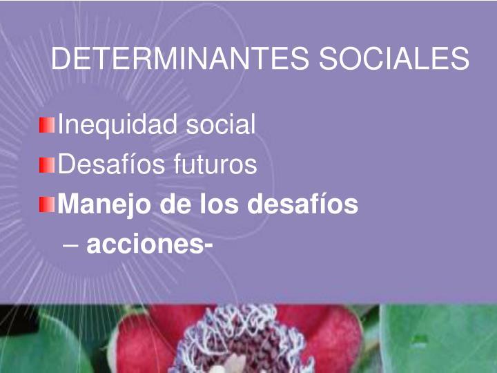 DETERMINANTES SOCIALES