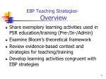 ebp teaching strategies overview