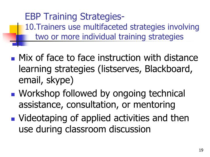 EBP Training Strategies-