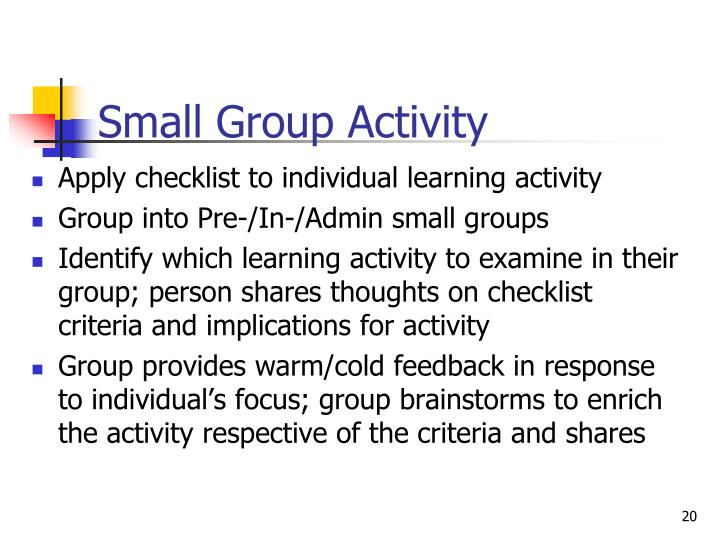 Small Group Activity