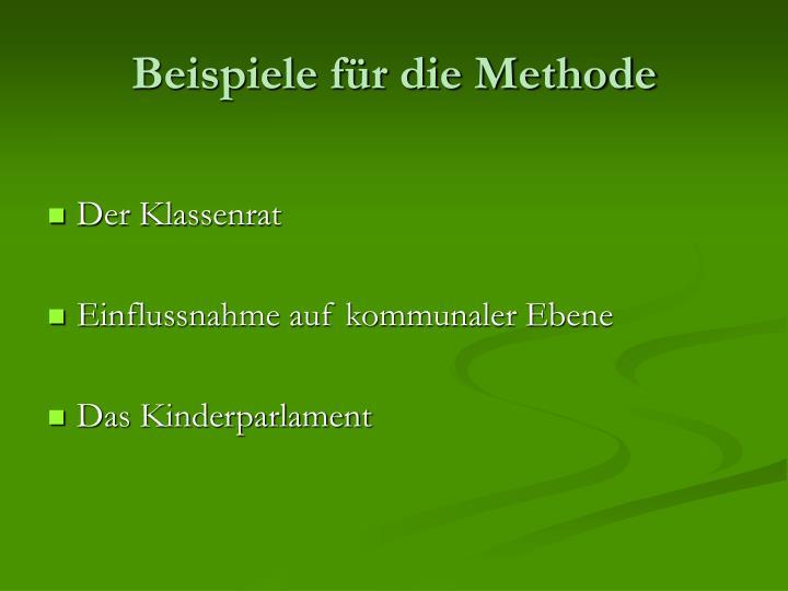 Beispiele für die Methode