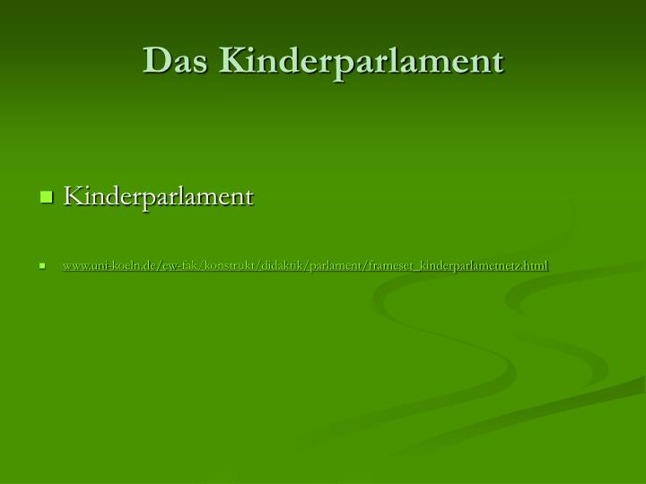Das Kinderparlament