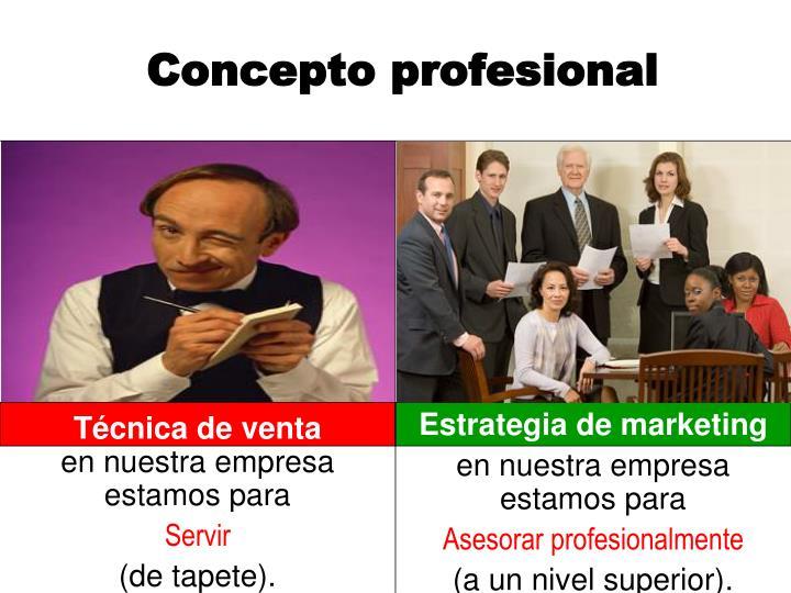 Concepto profesional
