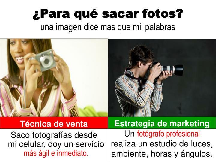 ¿Para qué sacar fotos?