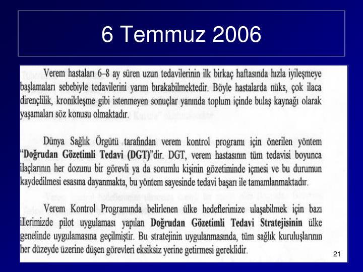 6 Temmuz 2006