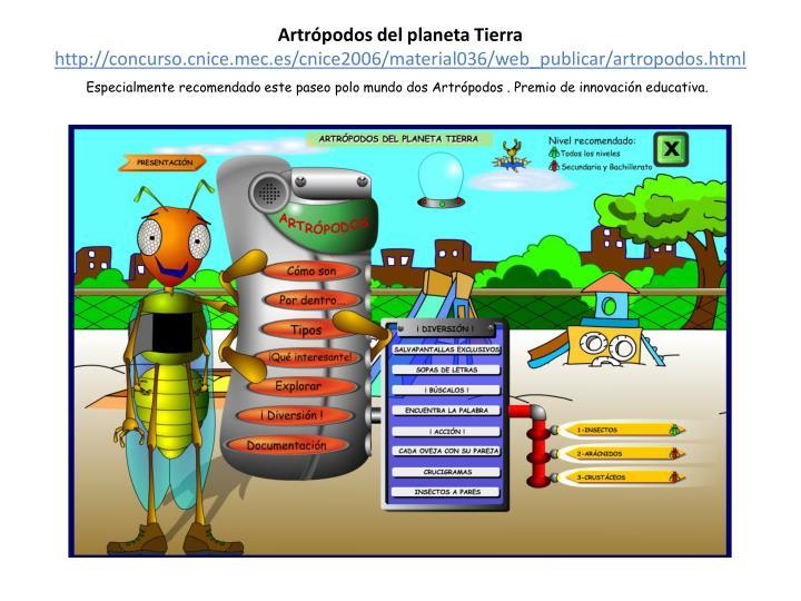 Artrópodos del planeta Tierra