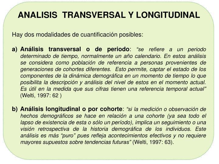 ANALISIS  TRANSVERSAL Y LONGITUDINAL
