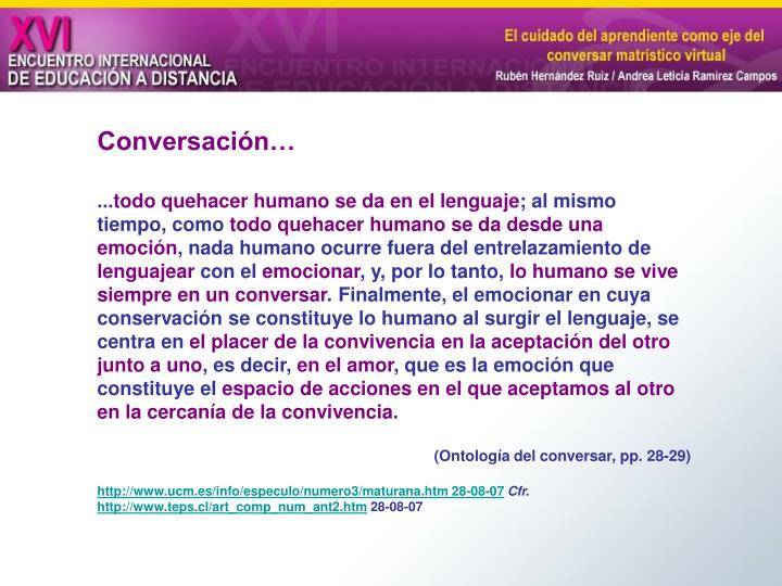 Conversación…