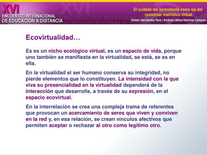 Ecovirtualidad…