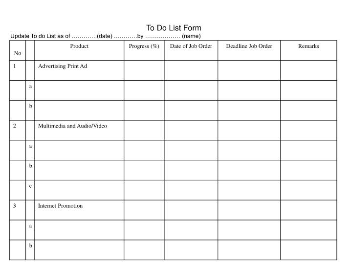 To Do List Form