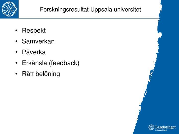 Forskningsresultat Uppsala universitet