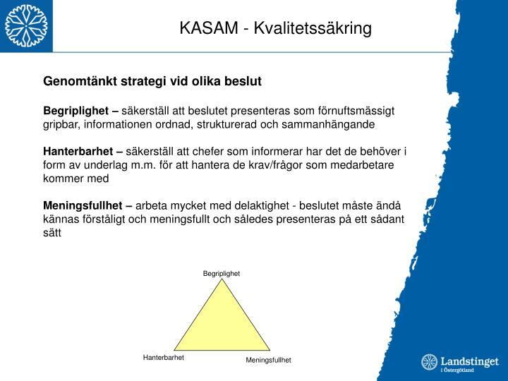 KASAM - Kvalitetssäkring