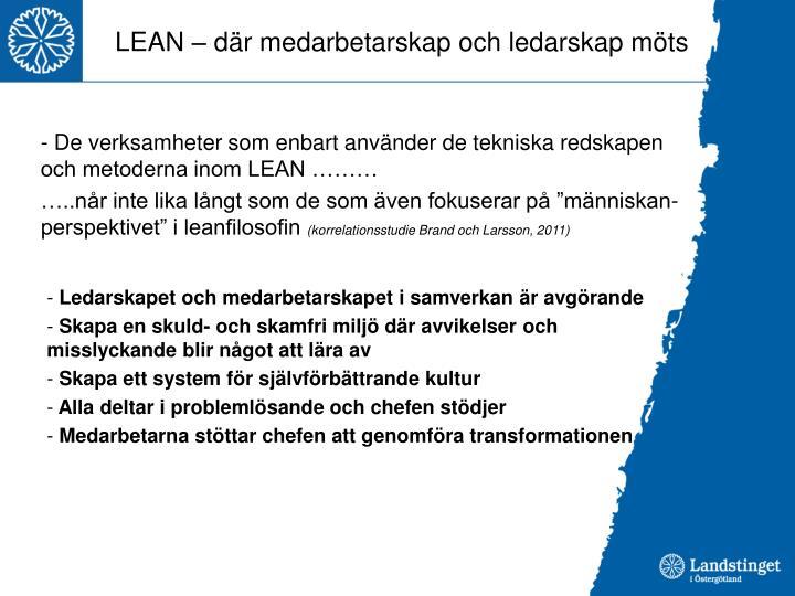 LEAN – där medarbetarskap och ledarskap möts