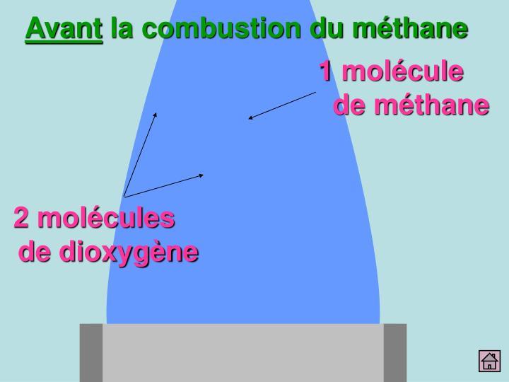 1 molécule de méthane