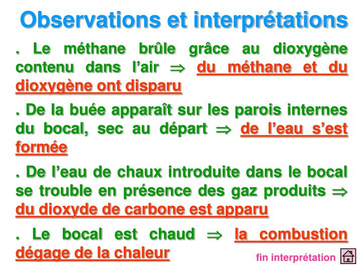 Observations et interprétations
