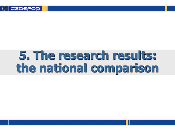 5. The research results: