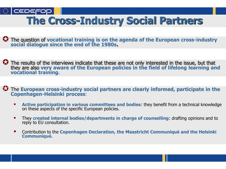 The Cross-Industry Social Partners
