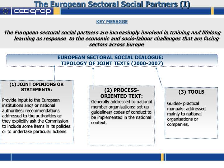 The European Sectoral Social Partners (I)