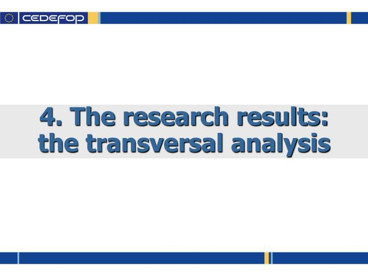 4. The research results:
