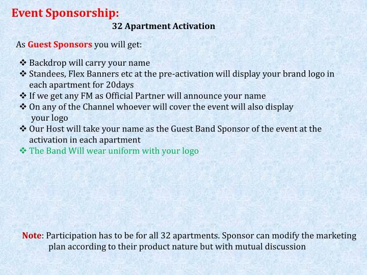Event Sponsorship: