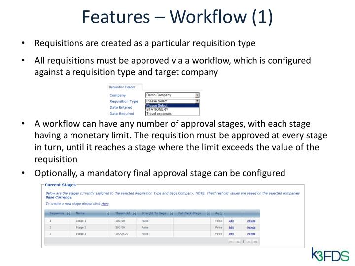 Features – Workflow (1)