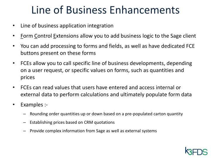 Line of Business Enhancements